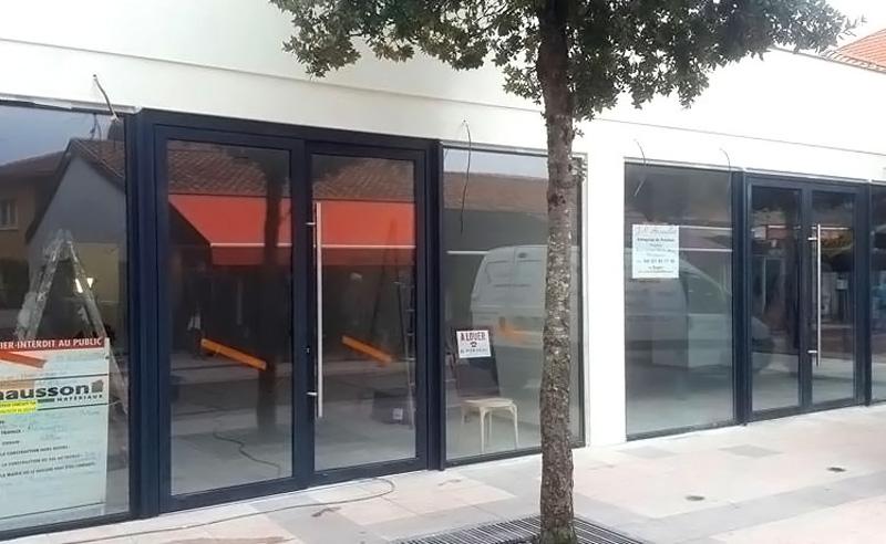 Rénovation commerce façade