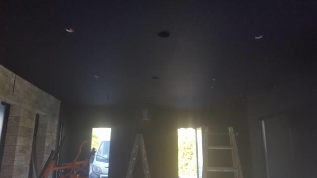 Pose faux plafond fumoir
